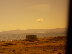 Morning view over Lake Titicaca