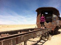 Gemma on a dead train