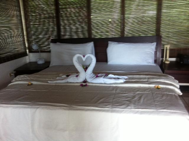 Posh bed/towel setup