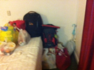 Our stuff in the motel