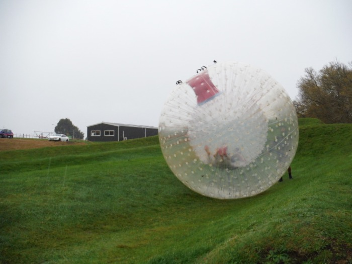 zorbing in rotorua is a top attraction